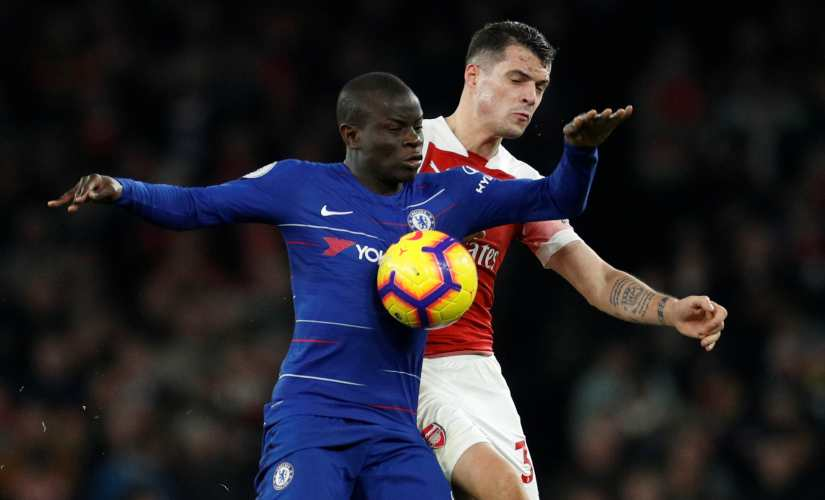 Chelsea midfielder N'Golo Kante has been played in a more advanced role by Maurizio Sarri this season. Reuters