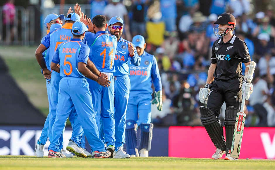 The turning point in the game was the wicket of Kane Williamson. The Kiwi captain was the side's best batsman in the first ODI and a lot was dependent on his performance here for New Zealand to chase the massive total down. He could only manage 20 off 11 balls before being removed by MohammedShami.AP