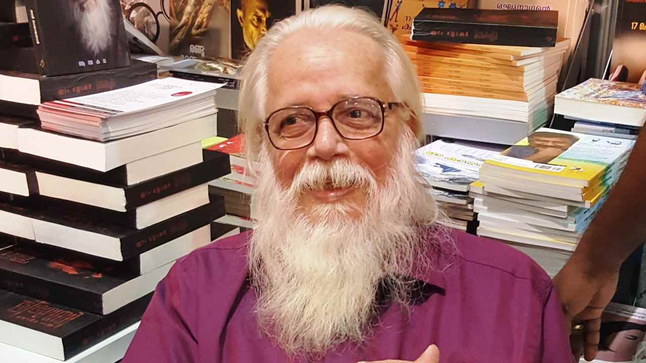 Nambi Narayanan at a signing of his first book 'Ready to Fire'. Image: Wikimedia Commons