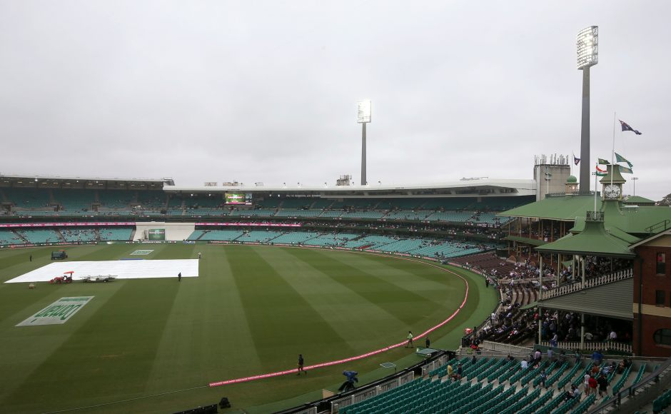 There were dark clouds hovering all over the stadium which meant the light was not proper for the game to resume despite the rains subsiding for a while. Only 25.2 overs could be bowled on Day 4. AP