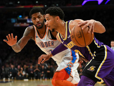 NBA: Paul George scores 37 points to guide Thunder past Lakers; 76ers beat Suns in high-scoring contest