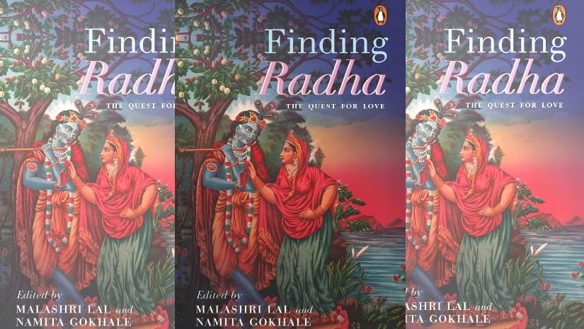 The lithograph that makes for the cover of the anthology Finding Radha also depicts Radha and Krishna upturning the conventional gender roles as Radha sports a crown while Krishna's forehead is adorned with flowers.