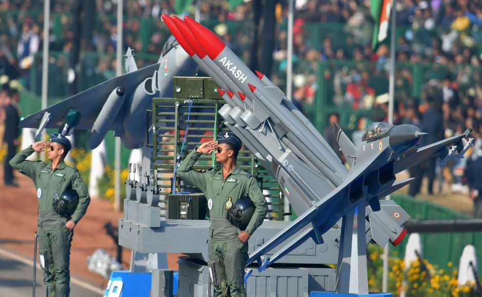 India's military might wasin full display, with the artillery gun system M777 American Ultra Light Howitzers, recently acquired from the US and K9 Vajra, a self-propelled artillery gun, showcased on Rajpath, being new additions this year. PTI