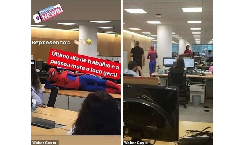 Today in Wait, What? Brazilian banker quits job, dresses up as Spider-Man for his last day at work