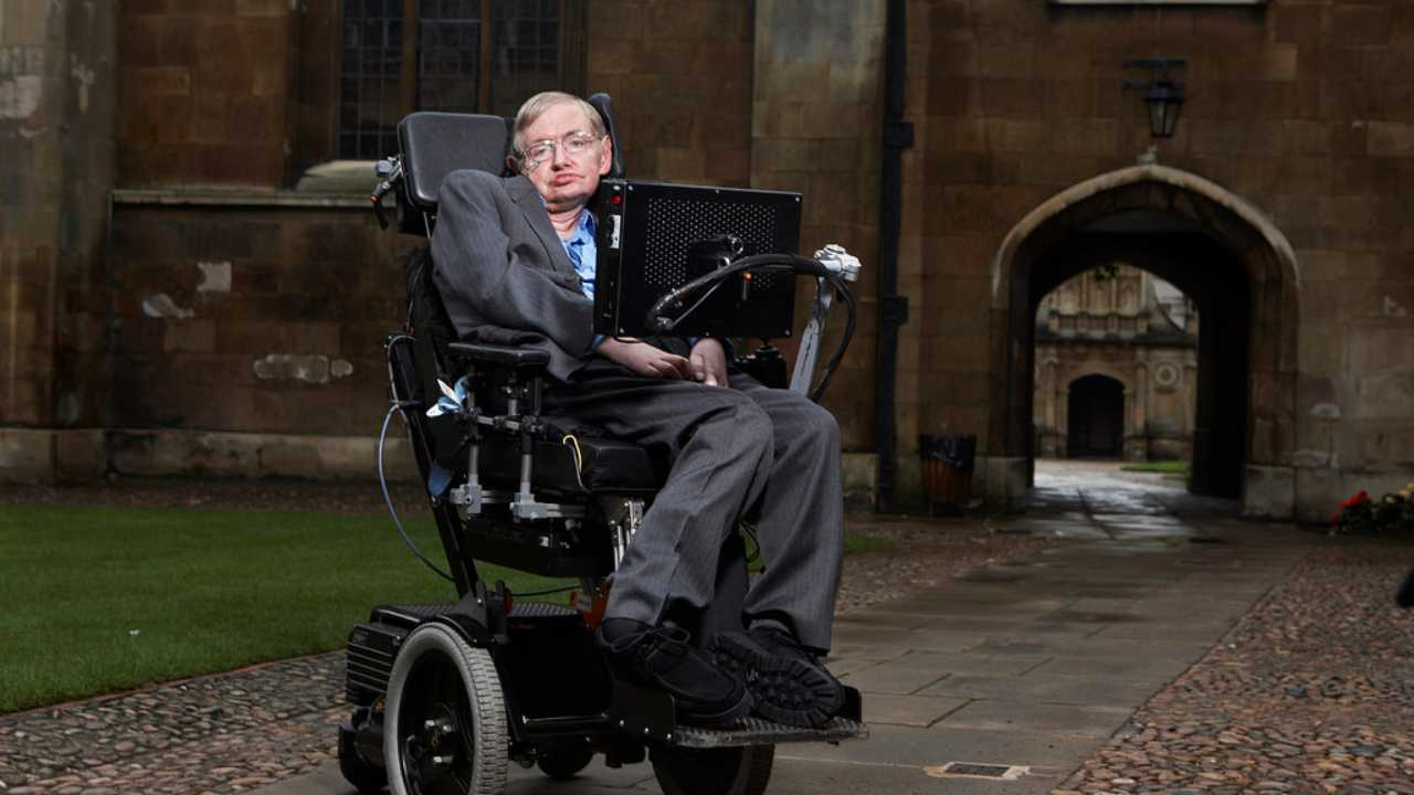 Stephen Hawking at Cambridge. Image courtesy: University of Portsmouth