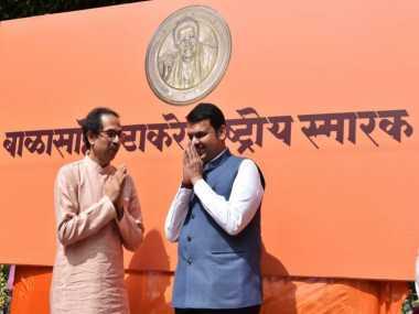 Amid constant bickering between BJP and Shiv Sena, Devendra Fadnavis and Uddhav Thackeray share stage for Balasaheb memorial
