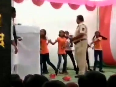 Nagpur cop suspended for showering money on girls dancing at school's Republic Day celebrations