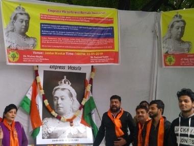 The Hindu Sena organised a programme on Queen Victoria's death anniversary. Twitter/@VishnuGupta_HS