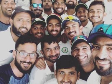 Vidarbha players celebrate after beating Kerala in Ranji Trophy semi-finals. Image: Vidarbha Cricket Association Facebook page