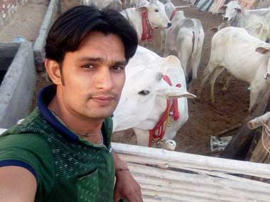 Vijay Kumar is engaged with a cow vigilante organisation. Image courtesy Satpal Singh