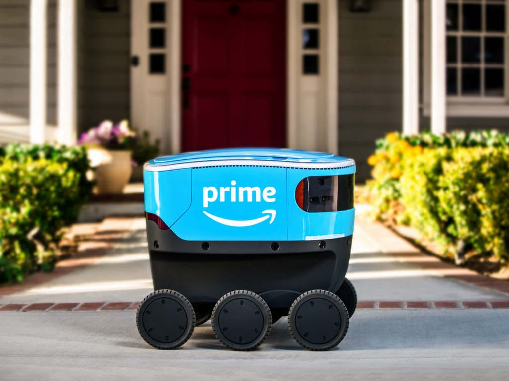 Amazon is testing autonomous robots for delivery, and they are called Scouts