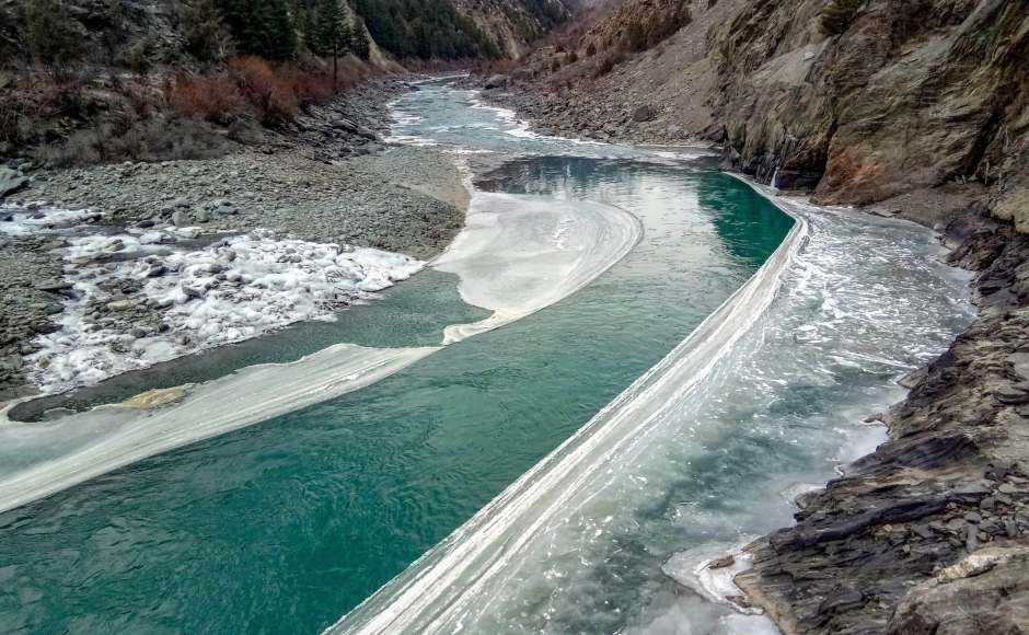 In Himachal Pradesh, the Chenab river was partially frozen despite cold wave conditions subsiding slightly. However, the IMD has predicted heavy snowfall and hailstorms in the state over the next few days. PTI