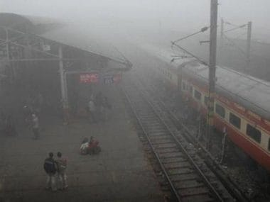 At least 11 Delhi-bound trains delayed after visibility plummets to less than 100 metres; very dense fog expected on Saturday
