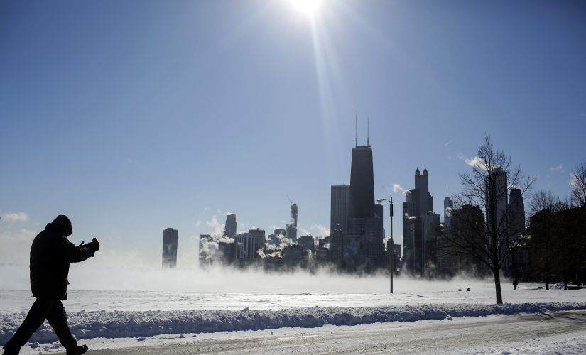 The National Weather Service warned that a wind chill of -20 F can cause frostbite in as little as 30 minutes. AFP