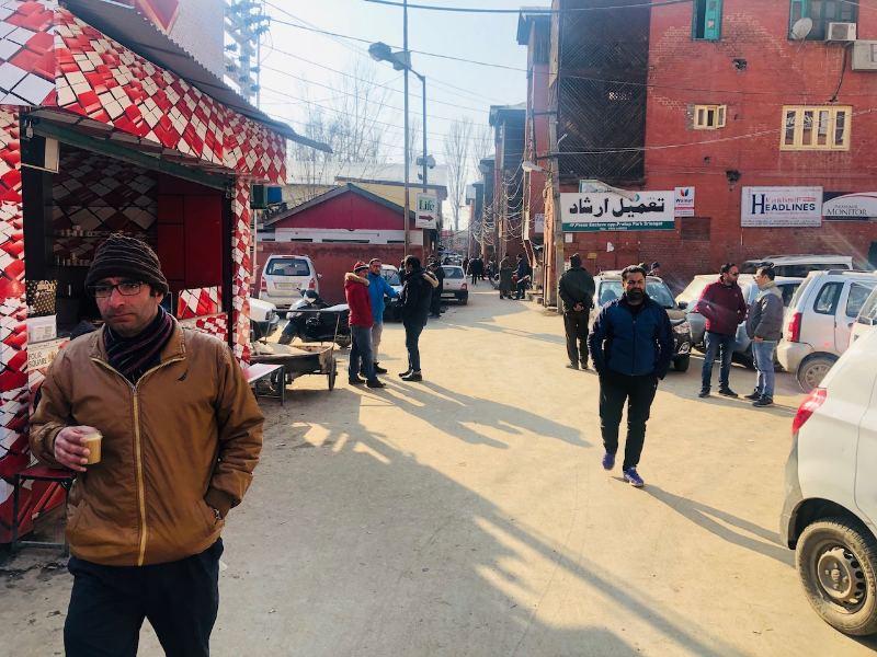 Srinagar's Press Enclave, where journalist Shujaat Bukhari was assassinated in 2018 by unknown gunmen. Image courtesy: Sameer Yasir