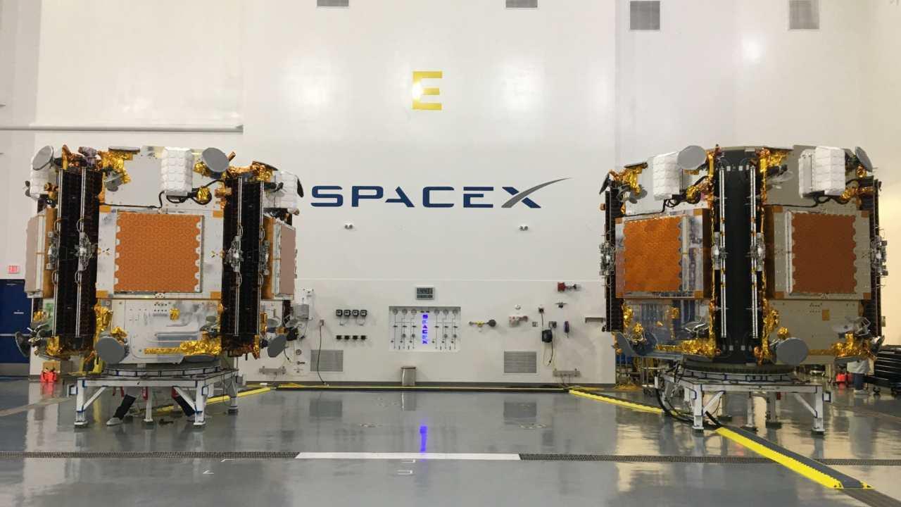 The 10 Iridium NEXT satellites that will launch on the fifth Iridium NEXT mission. Image courtesy: Iridium Communications