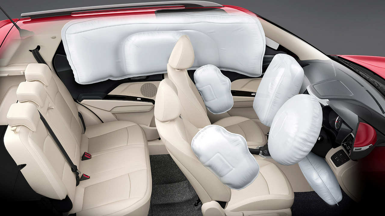 Mahindra XUV300 with seven airbags.
