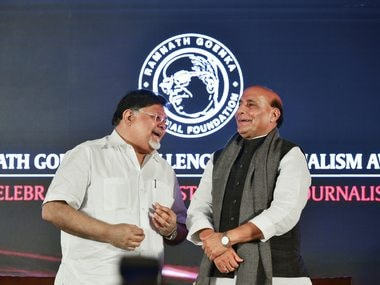 Government, media need not be friends, but there should be no enmity either, says Rajnath Singh at Ramnath Goenka Awards