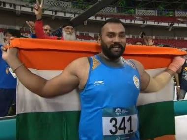 Toor is targetting the 21.60m-mark at the World Championship in Doha. File image