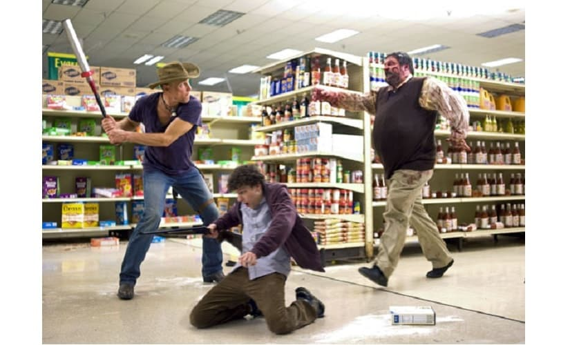 A scene from the film Zombieland. Source: Sony