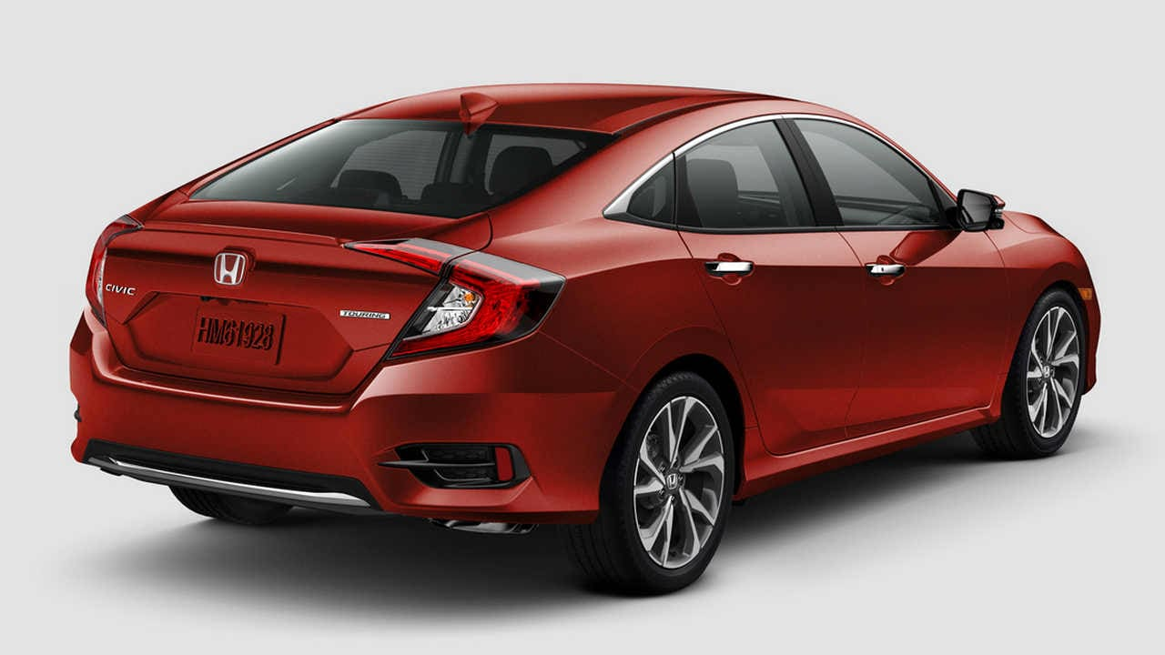 The 2019 Civic looks refreshing in a world of three-box sedans, with its low-slung front, and notch-back rear. Image: Honda