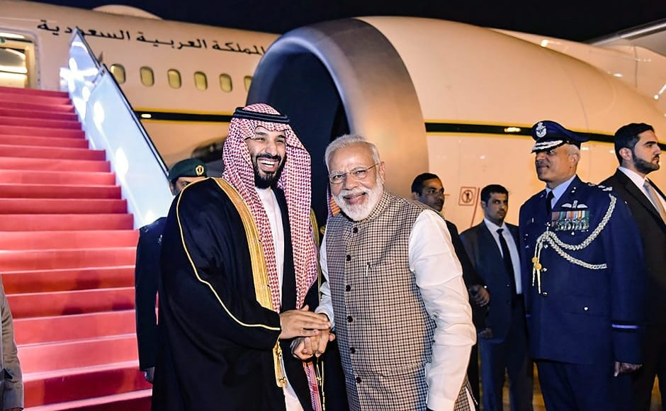 The crown prince will be in India till late Wednesday evening and then leave for a two-day visit to China, continuing his South Asia tour. PTI