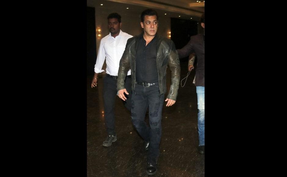 Salman Khan at the wedding reception. Sachin Gokhale/Firstpost