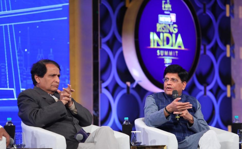 Railways Minister Piyush Goyal was also present at the event. Speaking on privatisation of public sector banks, Goyal said,