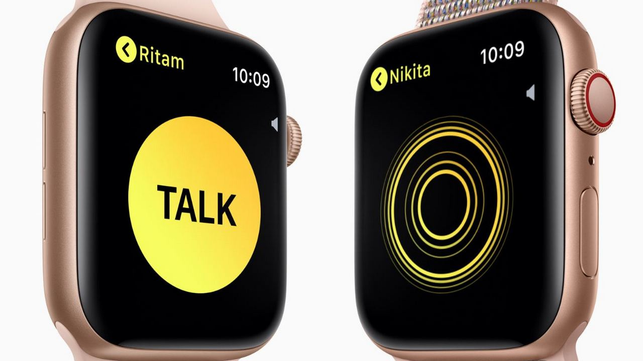 Walkie-Talkie is a fun feature which makes use of the Apple Watch Series 4's powerful microphone and speaker. Image: Apple