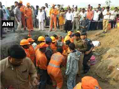 Six-year-old boy rescued from 200-feet-deep borewell after 16-hour rescue operation in Pune
