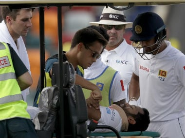 Australia vs Sri Lanka: Visitors lose quick wickets after Dimuth Karunaratne's injury, reach 123/3 on Day 3 at Canberra