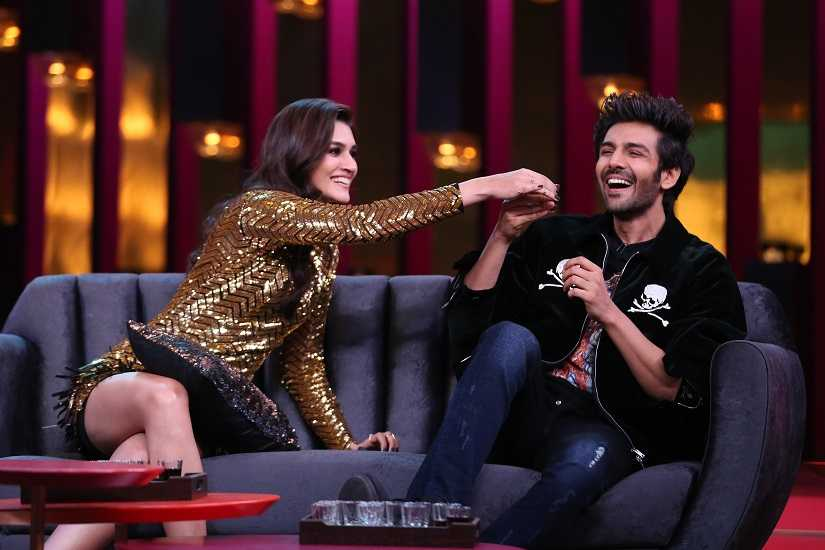 Koffee with Karan season 6: Kartik Aaryan, Kriti Sanon discuss relationships, roles they could have played better