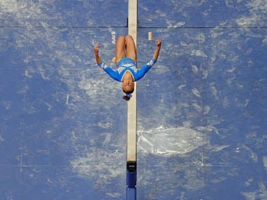 Grace McCallum competes on the balance beam at the U.S. Gymnastics Championships in Boston, Massachusetts, U.S., August 17, 2018. REUTERS/Brian Snyder - RC1892C2C6C0