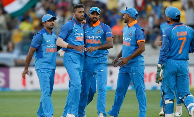 Hardik Pandya scored quickfire 45 and took two wickets to help India to 35-run win. Twitter @BCCI