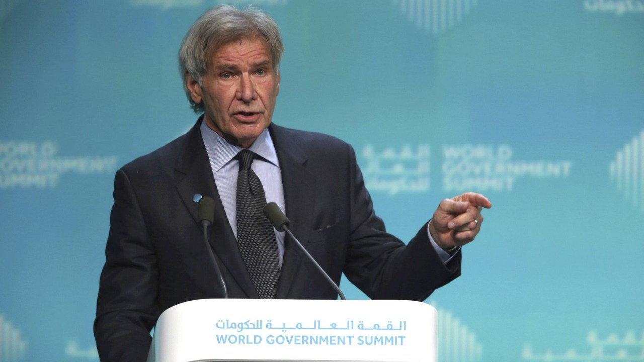 Harrison Ford pleads to protect oceans, calls out Trump for denigrating science