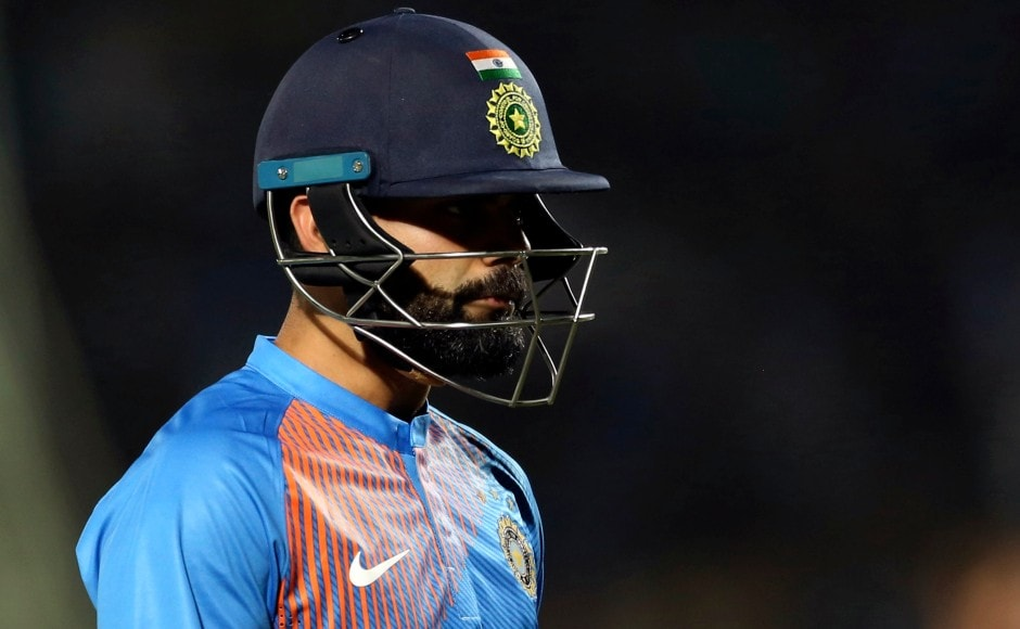 Indian innings faltered after a 55-run stand between Virat Kohli and Rahul was broken, as the hosts went from 69/1 to 100/6. AP