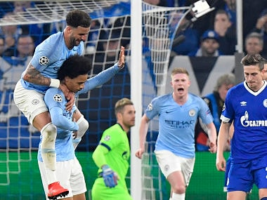 Champions League: Leroy Sane sorry for stunning free-kick against former love Schalke in Manchester Citys win