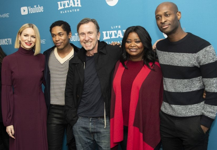 """Naomi Watts, from left, Kelvin Harrison Jr., Tim Roth and Octavia Spencer and director/writer/producer Julius Onah pose at the premiere of """"Luce"""" during the 2019 Sundance Film Festival, Sunday, Jan. 27, 2019, in Park City, Utah. (Photo by Arthur Mola/Invision/AP)"""