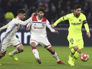 Champions League: Lyon frustrate wasteful Barcelona to earn a goalless draw in first leg of last-16 clash