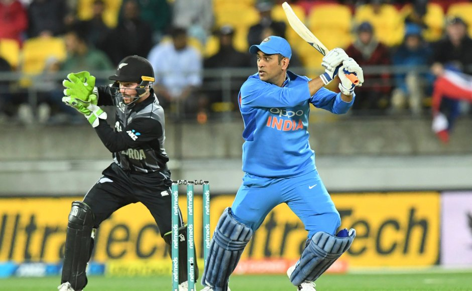 MS Dhoni top-scored for India with 39 off 31 balls but the chase was always going to be a difficult task as others kept falling around him. AP