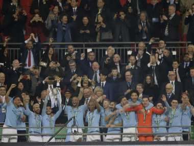 Carabao Cup: Manchester City edge Chelsea on penalties after goalless final to keep quadruple dreams alive