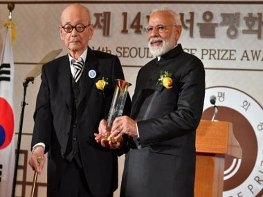 Narendra Modi receives Seoul Peace Prize, says time for all like-minded nations to join hands to combat terror