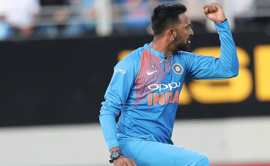 Krunal Pandya collected the Player of the Match for his performance with the ball, where he claimed wickets of Colin Munro, Kane Williamson and Daryll Mitchell. The three top-order wickets pushed New Zealand on the backfoot early in their innings. AP