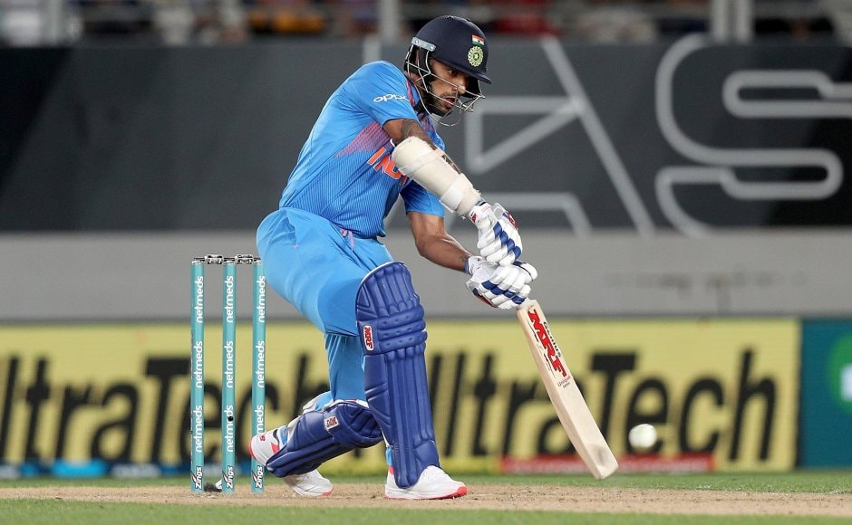Shikhar Dhawan played second fiddle toRohit Sharma laying solid foundation of 79 runs for the first wicket. Dhawandeparted for 30. AP