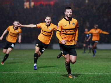 FA Cup: Fourth tier side Newport County stun Middlesbrough to set up fifth-round clash against Manchester City