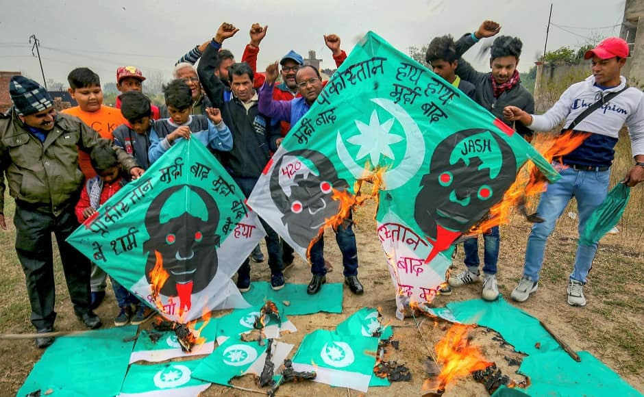 Politicians across parties condemned the attack and condoled the deaths of CRPF jawans. Prime Minister Narendra Modi, Home Minister Rajnath Singh, BJP chief Amit Shah, Congress chief Rahul Gandhi and chief ministers of various states attended funerals of the slain CRPF personnel. People in Amritsar burnt posters and raised slogans against Pakistan on Sunday. PTI