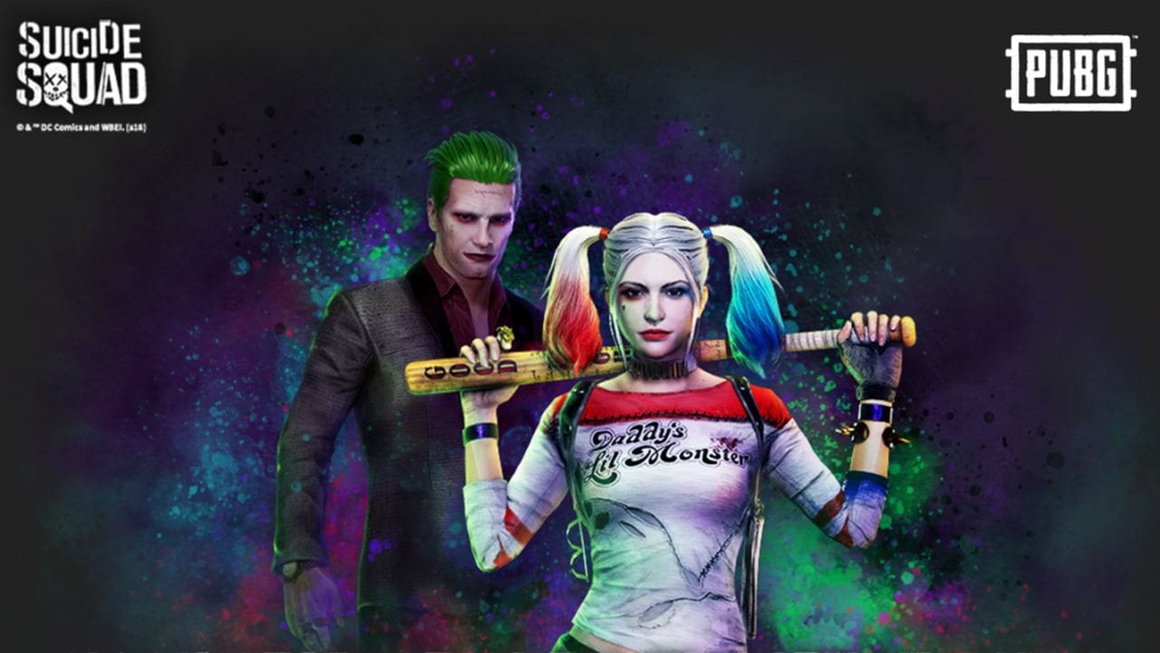 Harley Quinn and Joker skins now live for PUBG PlayStation 4 players