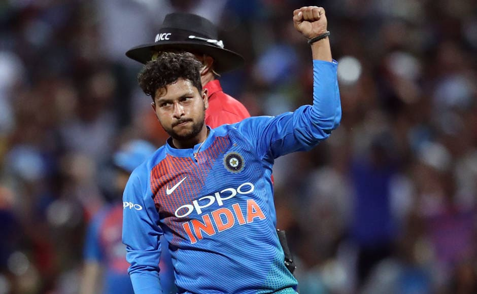 Kuldeep Yadav was bowling on a different track. He bowled four overs for just 26 runs and picked up two wickets. On this track, other Indian bowlers struggled to get going and leaked runs at over 9 runs per over. Kuldeep brought India back in the game by removing Tim Seifert and Colin Munro. AFP