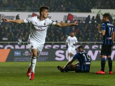 Serie A: Red-hot Krzysztof Piatek nets a brace as AC Milan stay on course for Champions League with win over Atalanta