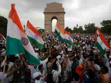 Anna Hazare's 2011 fast in New Delhi drew thousands of supporters. Reuters